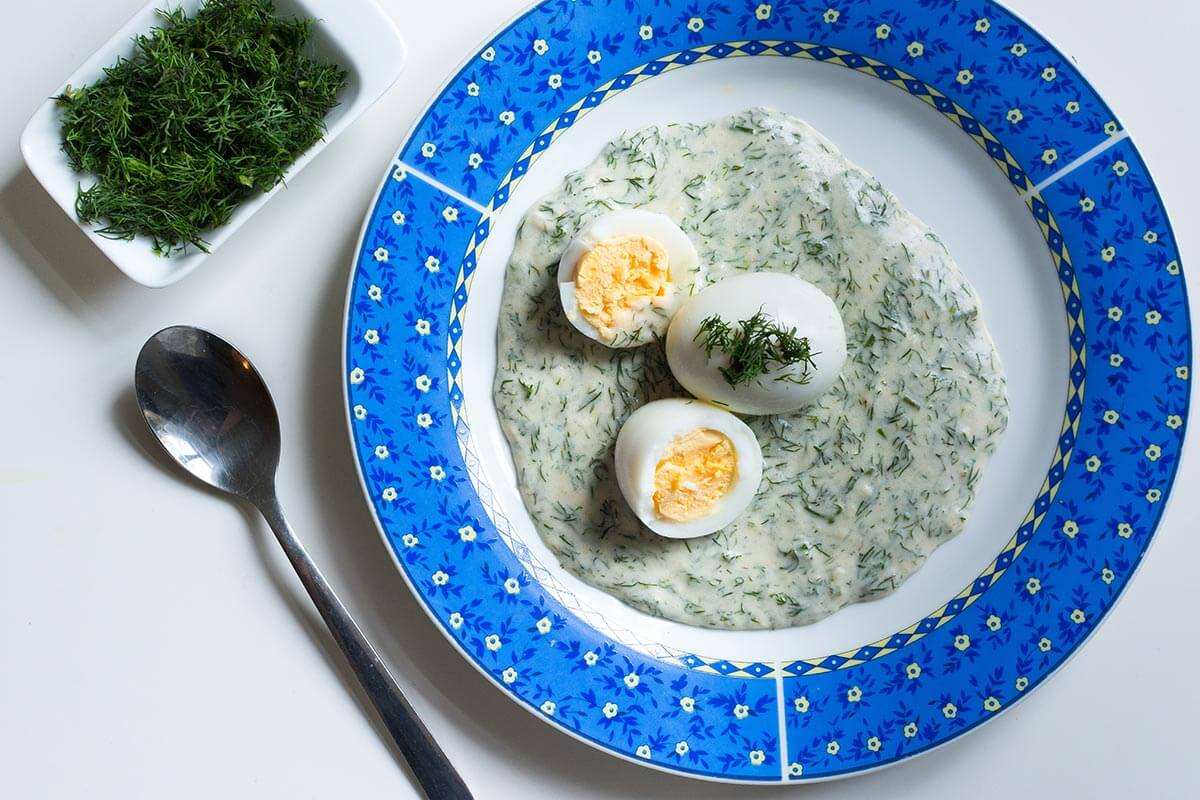 Dill Gravy & Eggs